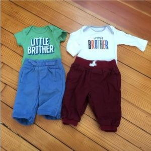 4 Piece Newborn Little Brother Bundle